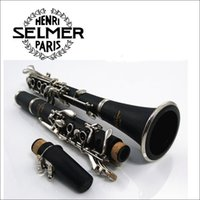 Wholesale Reed Clarinet - Selmer ABS 17 Key Clarinet B Flat Soprano Clarinet with Cleaning Cloth Gloves Screwdriver Reed Case Woodwind Music Instrumen