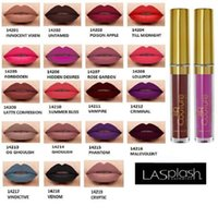 Wholesale High Couture - New Lasplash Lip Couture Liquid Matte Lipstick 14 colors High quality Waterproof Matte Lip Gloss Vs kylie DHL Free Shipping