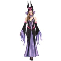 Wholesale Sexy Female Christmas Costumes - 2016 Halloween Costumes for women Maleficent Witch Costume Dress Queen Cosplay Costumes Sexy women cosplay dresses