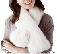 ingrosso coniglio del castoro-Inverno castoro coniglio capelli sciarpe extra spesso confortevole caldo doppio lato capelli sciarpa di coniglio più economico Sciarpe regalo di regalo di Natale