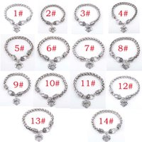 Wholesale Charms Mimi - 2016 The new family member MOM   SISTER   MIMI   NANA fashion full rhinestone Peach Heart Bracelet Jewelry