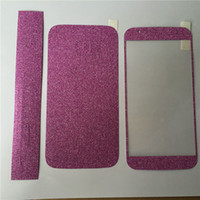 ingrosso adesivo apple glitter-Full Body Glitter bling Screen Protector Sparkle shimmer Whole Film Skin Shinny Sticker per iPhone 4 4S SE 5 5S 6 6s 6 plus iphone 7 plus