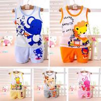 Wholesale Undershirt Child Boy - Wholesale- New Brand Fashion Children Baby Boys Clothes Kid's T-shirts Set 2016 Summer Undershirt Clothing Cotton Short T-Shirt +Pants Sets