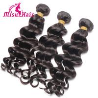 Wholesale Cheap Brazilian Deep Curl - Big Sale Wholesale Human Hair Extensions Brazilian Loose Curl Weave Hair Bundles Loose Deep Cheap Human Hair Brazilian Hair Weaves