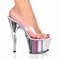 Wholesale Thick High Heels Spikes - Waterproof spike thick bottom han edition lady slipper catwalk show 15 cm high heel sandals
