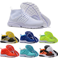 Wholesale Winter High Cut Running Shoes - 2016 New Presto Running Shoes Men Women Air Sneakers High Quality Original Discount White High Cut Sports Shoes Size 5.5-11