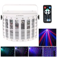 Wholesale Dj Lights Sound Activated - US in Stock 6 Channel RGBW Dmx512 Stage Lighting Effect Voice-activated Automatic Control LED Laser Projector DJ Home KTV Disco L0142