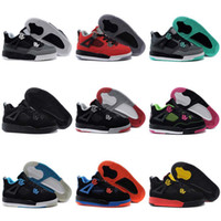 Wholesale Babys Spring - 2017 New Children's Athletic Shoes Retro 4 Basketball Shoes Kids Casual Boots Babys Cheap Sport Shoes Free Shipping Size 11C-3Y