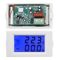 Wholesale Dual Volt Meter - 1pcs White D69-2042 Dual Digital LCD display AC 80-300V voltage meter Volt tester Panel Ammeter Voltmeter