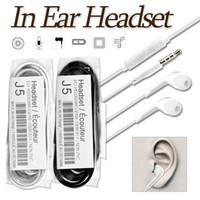 mikrofon kontrol tel toptan satış-IPhone 6 Kulak Kulakiçi Kablolu Hearphones 3.5mm OPP Çanta ile Mic Ses Kontrolü Kulaklık ile Spor Koşu Hearphone