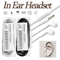 Wholesale Headphones For Galaxy - Earphone In-Ear Headset Stereo With Mic And Remote Headphone For Samsung Galaxy S7 S6 S5 S4 3.5mm Twins Earbuds No Retail Package