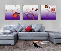 Wholesale beautiful flower art painting for sale - Group buy Modern Beautiful Flower Fine Floral Painting Giclee Print On Canvas Home Decor Wall Art Set30336