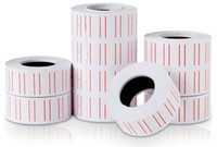 Wholesale Shipping Labels Roll - Jewelry Package Popular 10 Rolls 4000 pieces White Price Tags Label for MX-5500 GUNS REFILL Wholesale Free Shipping