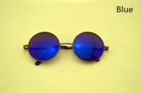 Wholesale John Lennon Style Sunglasses - New Unisex John Lennon Style Vintage Round Peace Sunglasses Eyewear Men and Women Round Sun Glasses Oculos De Sol Feminino YJ016