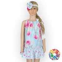 kleines mädchenkleid entwirft sommer großhandel-06) 24pcs / lot) Großhandelsneue Sommer-Art-Blumen-Kind-Kleidungs-Butiken-beiläufiges Kleid für Mädchen-kleines Mädchen-beiläufiges Kleid entwirft