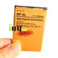 Wholesale E72 Battery - 5pcs lot 3030mAh BP-4L Gold Replacement Battery For Nokia E61i E63 E90 E90i 6650F N97 N97i E95 E71 E71x E72 E73 E75 E52 E55 N810 Batteries