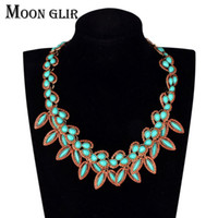 Wholesale Statement Necklace Vintage Leaves - Leaves pendant statement necklace classic summer fashion jewelry display Vintage Maxi Choker necklace for women Accessories