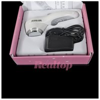 Wholesale color photon ultrasonic - Hot 7 LED Color Light Therapy Photon Skin Rejuvenation Sonic Face Lift Care Skin Cleaner Wrinkle Remover Ultrasonic Facial Massager