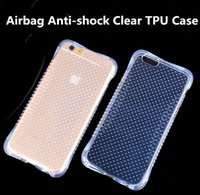 Wholesale 5s battery case - For iphone 7 Clear Airbag Anti-shock TPU Case Soft Transparent Silicone Cover Small Waist Air Float Protector Shockproof for iPhone 6 5s