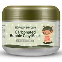 Wholesale pig skin for sale - Group buy 48PCS BIOAQUA pig carbonated bubble clay Mask g remove black head skin pores face care facial sleep mask BIOAQUA Skin Care