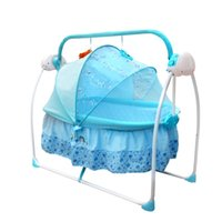 Wholesale New Electric Metal Baby Cribs Baby Bedding Baby Cradle With Music Rocking Chair With Mosquito Nets