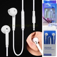 Wholesale Handsfree Galaxy - Good Quality 3.5MM In-Ear Handsfree Earphones with MIC Volume Control headphone for Samsung Galaxy S5 S6 S7 Edge EG920 EG950