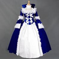 cosplay vitoriano vestidos venda por atacado-(GT016) Halloween Cosplay Mangas Compridas Trajes Cosplay Gótico Vitoriano Bruxa Vestido de Baile vestido de Festa Vestido de Lolita Rainha