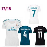 Wholesale Black Shorts Ladies - 17 18 Real madrid women Home White soccer Jersey 2018 lady Arsenio RONALDO BALE RAMOS ISCO MODRIC Away black 3rd football shirts