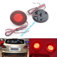 Wholesale nissan car fog lamp - 2PCS Red Lens LED Bulbs Car Styling Warning Rear Bumper Reflector Brake Light Stop Fog Lamp For Nissan Qashqai