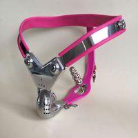 melhores cintos masculinos de castidade venda por atacado-Melhor Venda de Alta qualidade Masculino de aço inoxidável T Chastity dispositivos Belt