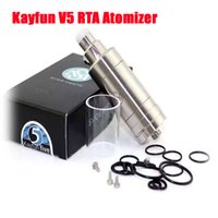El más reciente Kayfun V5 RTA atomizador inoxidable 316 RBA Top Llenado del depósito de Clone Kayfun cinco V3 V4 Mini vapor Box Mods DHL ATB513 Bottom