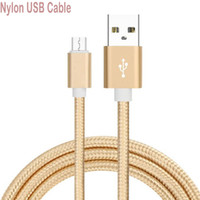 Nylon Micro USB Cable para Android IOS 3m 2m Fast Charge wire Microusb Mini USB Celular Cabos