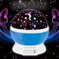 Wholesale Projection Lights For Kids - USB Cord Romantic Rotating Cosmos Star Sky Moon Colorful Ball Shape LED Projector Rotation Night Projection Light for Children Kids Bedroom