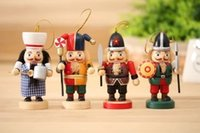 Wholesale Wooden Soldier Nutcracker - 161151 New arrival nutcracker soldiers 10cm home decoration wooden toy cartoon gift for children Christmas Free shipping