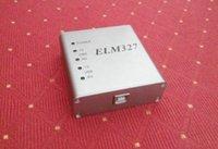 Wholesale Obd2 Rs232 - wholesale elm327 usb Aluminum metal rs232 com interface obd2 full protocol the best quality matel v1.4 v1.5 free dhl