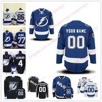 Wholesale Cheap Bolts - Stitched Custom Tampa Bay Lightning mens womens youth kids OLD BRAND White royal Blue home Black Third ice Hockey cheap BOLTS Jerseys S-4XL