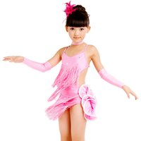 Wholesale Dresses Latin Children - Free Shipping Latin Dance Dress For Girls Child Latin Dance Costume Clothing Child Latin Dance Clothes Dance Skirt