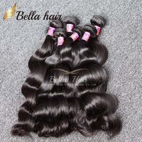 Wholesale bella hair extensions online - Bella Hair A Peruvian Malaysian Indian Brazilian Hair Extension Body Wave Natural Color Mix length Hair Weaves Weft