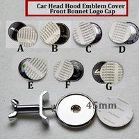 Wholesale Car Alloy Emblem Logo - 1pcs 4.5cm 45mm car Emblem Head covers Hood logo Front Bonnet Badge cover STAR W211 W203 W204 W124 W201 AMG W202 W212 W220 W205 GLA labels