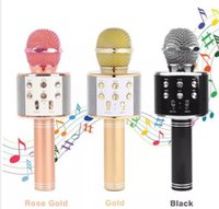 WS858 Microfono senza fili Bluetooth HIFI Altoparlante Condensatore Magic Karaoke Player MIC Speaker Registra musica per Iphone Android Tablet PC