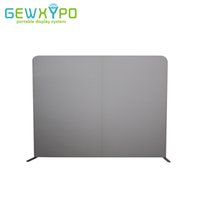 Wholesale Banner Pop Ups - 10ft*7.5ft Portable Straight Blank Wall,Trade Show Pop Up Booth Tension Fabric Advertising Display Stand With White Plain Banner