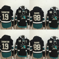 Wholesale Order Hoodies - San Jose Sharks Hockey Hoodie #19 Joe Thornton #88 Brent Burns Jerseys Men's 100% Stitched Embroidery Logos Hockey Sweatshirt Mix Order
