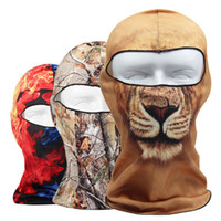 3D animal réel Arbre Effet Sports de plein air Vélos Cyclisme Moto Masques de ski de capot Hat Veil Balaclava UV Protect Neck masque facial