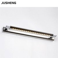 Wholesale Novelty Led Light Bathroom - AC85-265V Novelty LED Mirror Light smd5050 47cm 62cm Surface Mounting 5W 7W for Home Bathroom Wall lighting lamps cool white CE