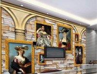 materiais de parede para sala de estar venda por atacado-papéis de parede de sala de estar moderna parede de tijolos de material de mármore papel de parede foto personalizada