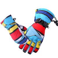 Wholesale Kids Cycling Gloves - Queshark Waterproof Children Kids Winter Warm Skiing Gloves Snow Sport Mittens Outdoor Ski Snowboard Cyling Gloves