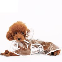 Wholesale Cloak Raincoat - Wholesale pet supplies, transparent waterproof raincoats, puppy hooded rain cloak, teddy raincoats, 3 color,free shipping