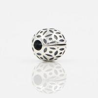 rolha grande venda por atacado-Rolha De Prata Bead Europeu Pulseiras Clips Contas Big Hole Beads Clipe Bead Fit Charme Europeu Pulseiras de Jóias De Metal DIY Acessórios