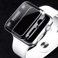 Wholesale Clear Plastic Watches - 38mm 42mm Ultra Thin Crystal Clear Hard Full cover Case for Apple Watch Series 2 Full Screen Protector Series 3 1 Transparent Coque fundas