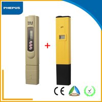 Wholesale Digital Tds Meter Tester Filter - PHEPUS china direct Digital PH Meter + TDS Tester CE RoHS Monitor for Aquarium, RO Filter, Industry, Laboratory